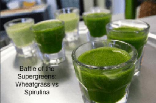 Battle of the Supergreens Wheatgrass vs Spirulina