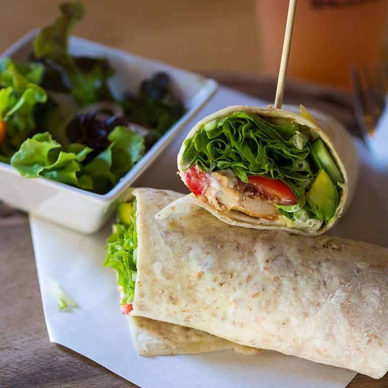 chicken-and-spinach-wrap
