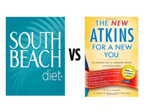 South beach diet VS Atkins diet