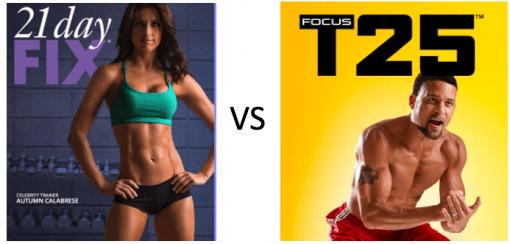 21 Day Fix vs. T-25
