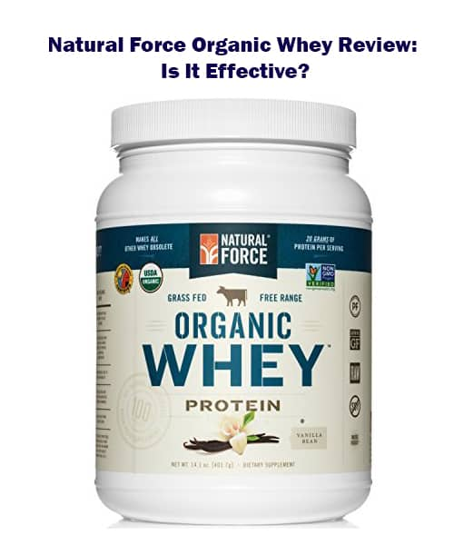 natural force organic whey protein powder is rich in amino acids