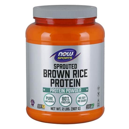Now Sports sprouted brown rice protein