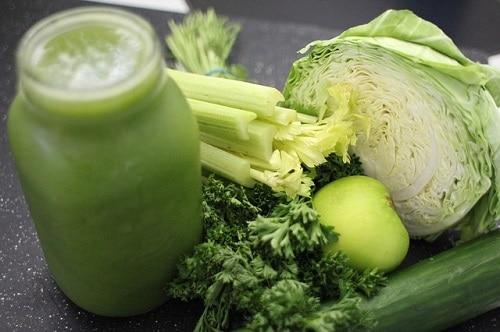 low calorie green juice