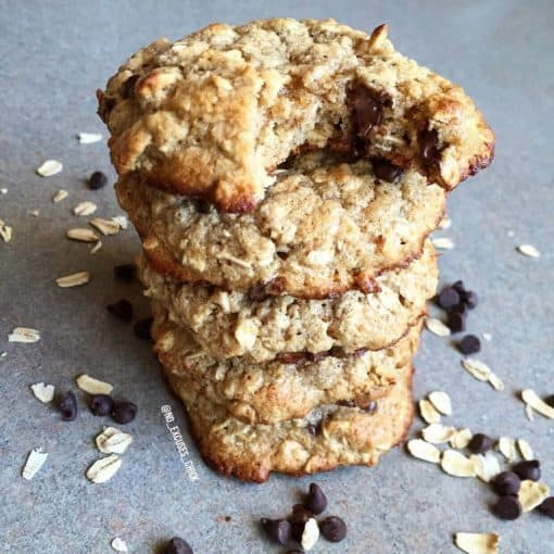 oatmeal chocolate chip protein cookie