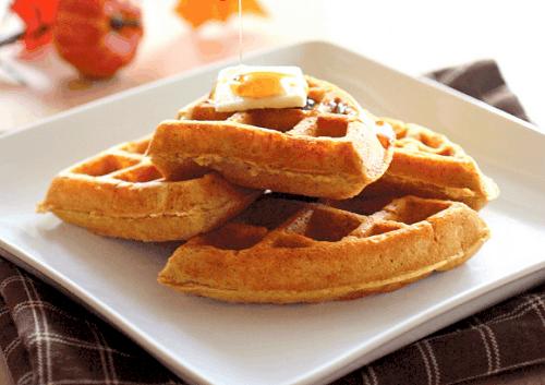 pumpkin spiced waffle