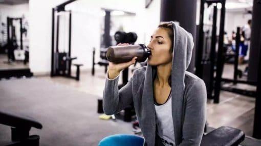 girl protein shake