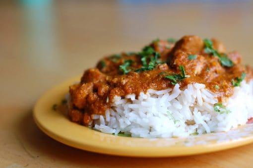 ndian coconut chicken with curry