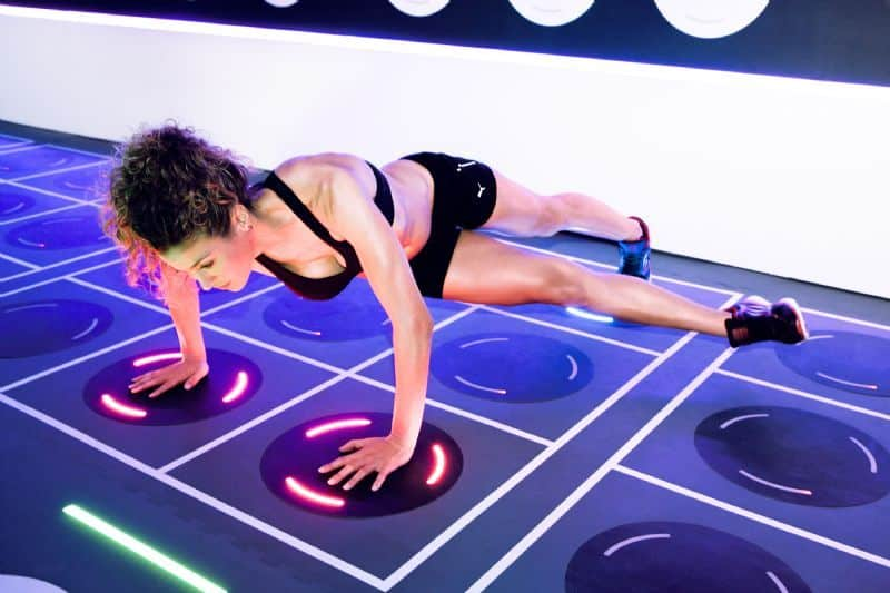 high-tech fitness studio